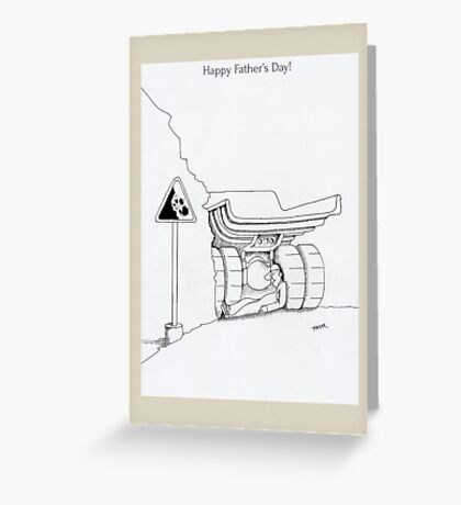 Father's day cards - funny trucker cartoon Greeting Card