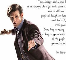 11th Doctor's Quote by irishalien