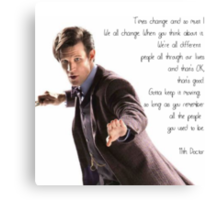11th Doctor's Quote Canvas Print
