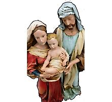 Joseph, Mary & Baby Jesus Photographic Print