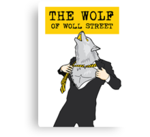 The Wolf Of Woll Street Canvas Print