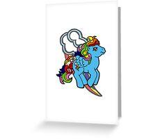 Vintage Rainbowdash Greeting Card