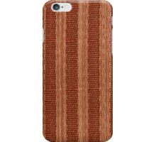 Beige and orange fabric texture iPhone Case/Skin