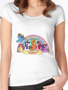 Vintage friendship is magic. Women's Fitted Scoop T-Shirt