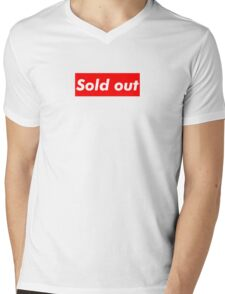 "Supreme ""Sold out"" Mens V-Neck T-Shirt"