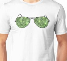 Green Aviators. Unisex T-Shirt