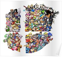 Super Smash Bros. 4 Ever + All DLC Poster