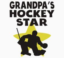 Grandpa's Hockey Star Kids Clothes