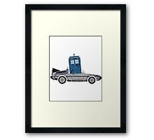 Drive Time [Dr. Who vs BTTF] Framed Print