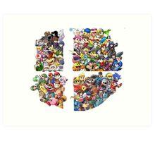 Super Smash Bros. 4 Ever Art Print