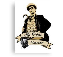 Doctor Who - My first Doctor (Who) seventh 7th Sylvester McCoy Canvas Print