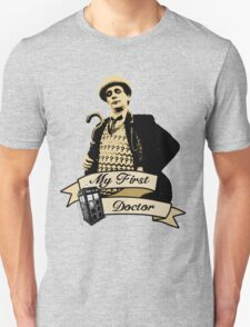 My first Doctor (Who) seventh 7th Sylvester McCoy T-Shirt