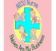 NICU Nurse iPhone Case PInk by gailg1957