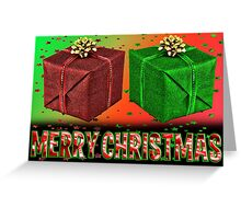 Two Box Xmas Greeting Card
