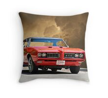 1969 Pontiac GTO II Throw Pillow