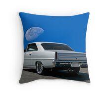 1967 Chevrolet 'Blue Moon' Nova Throw Pillow