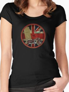 triumph history 1935 Women's Fitted Scoop T-Shirt