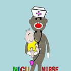 NICU Nurse Sock Monkey iPhone Cases by gailg1957
