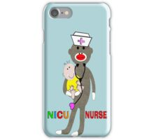 NICU Nurse Sock Monkey iPhone Cases iPhone Case/Skin