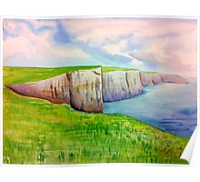 Cliffs of Moher Watercolor Poster