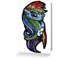 Mlp - Rainbow dash Greeting Card
