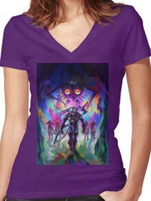 The Legend of Zelda Majora's Mask 3D Artwork #2 Women's Fitted V-Neck T-Shirt