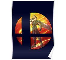 "Cloud ""Super Smash Bros Poster"