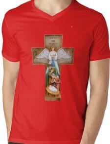 The Crucifix Mens V-Neck T-Shirt