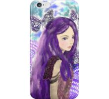 Portrait Of A Maiden In Purple Winter iPhone Case/Skin