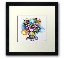 Super Smash Bros. for Wii U [Full Art] Framed Print
