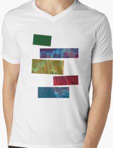Galaxy Tetris Mens V-Neck T-Shirt