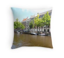 Amsterdam Canal 3 Throw Pillow