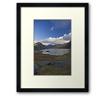 Blue sky over Wastwater Framed Print