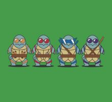 Teenage Mutant Squirtle Squad by zblues