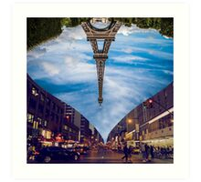 Paris New York Digital Art  Art Print