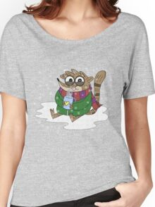 Regular Show - Rigby Sitting On Snow Women's Relaxed Fit T-Shirt