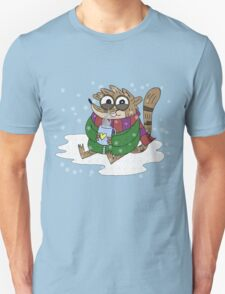 Regular Show - Rigby Sitting On Snow Unisex T-Shirt