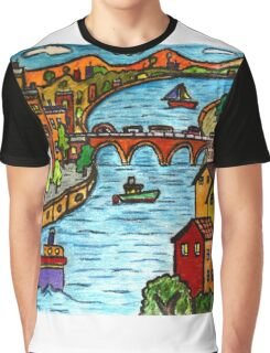 River Scape Graphic T-Shirt