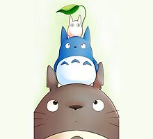 Totoro with his friends by Totorooo