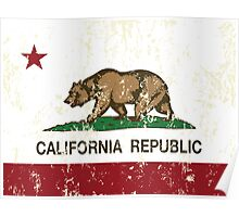 California Republic Grunge Distressed  Poster
