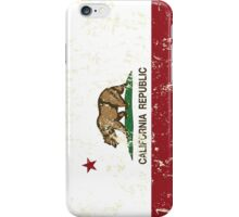California Republic Grunge Distressed  iPhone Case/Skin
