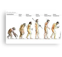 Evolution... Canvas Print