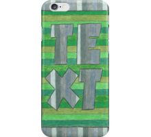 Four Letter Words, TEXT iPhone Case/Skin