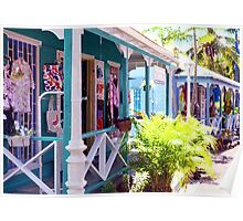 Chattel Shops of Barbados Poster