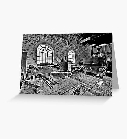Locomotive Shed (HDR) Greeting Card
