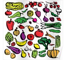 Veggies and fruits Poster