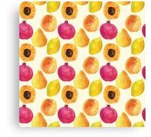 Watercolor fruits Canvas Print
