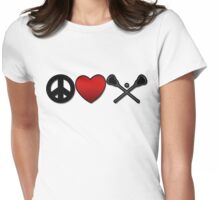 Peace Love Lacrosse Womens Fitted T-Shirt