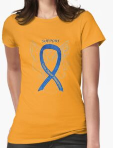Colon Cancer Ribbon  Womens Fitted T-Shirt