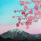 Cherry Blossoms between you and the mountains by towncrier